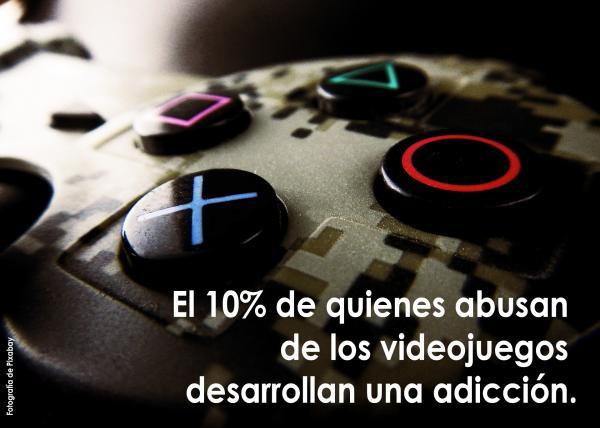 El 10% de quienes abusan de los videojuegos desarrolla una adicción.