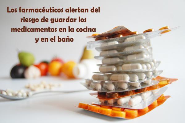 Los farmacéuticos alertan del riesgo de guardar los medicamentos en la cocina y en el baño